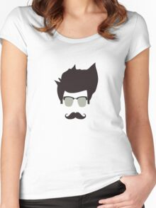 Cool moustache Women's Fitted Scoop T-Shirt