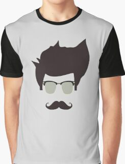 Cool moustache Graphic T-Shirt