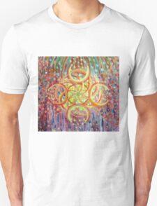Burning Ring of Fire Mandala Unisex T-Shirt