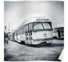 Vintage Streetcar Trolley 4437 Poster
