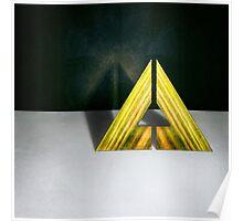 Split Triangle Green Poster
