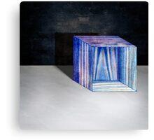 Blue Box Sitting Canvas Print