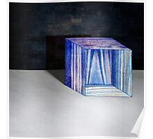 Blue Box Sitting Poster