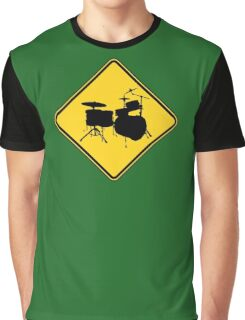 Drummer Zone Sign Graphic T-Shirt