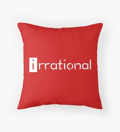 irrational - math design Throw Pillow
