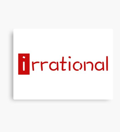 irrational - math design Canvas Print
