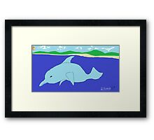 Dolphin(imaginary) -(050214)- Digital artwork/MS Paint Framed Print