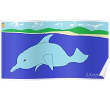 Dolphin(imaginary) -(050214)- Digital artwork/MS Paint Poster