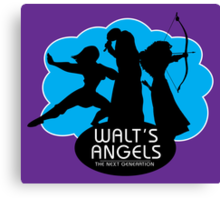Walt's Angels Canvas Print