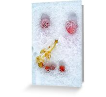 Vegetables And Fruit Snowman Face Greeting Card