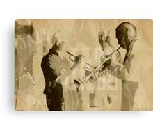 Two Trumpeter. Jazz Club Poster Canvas Print