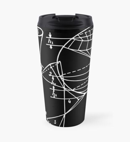 Vintage Math Diagrams - white on black Travel Mug