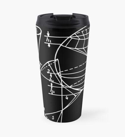 Vintage Math Diagrams - white on black Travel Mug