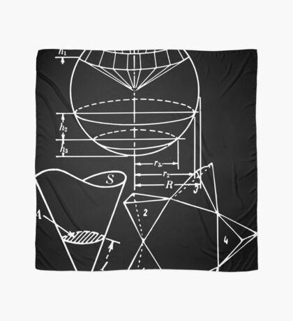 Vintage Math Diagrams - white on black Scarf