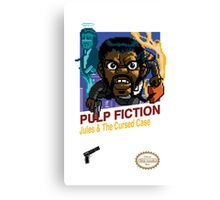 Pulp Fiction: 8 Bit Style Canvas Print