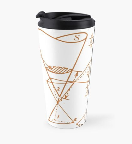 Vintage Math Diagrams - sepia Travel Mug