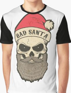 bad santa. Santa skull Graphic T-Shirt
