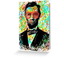 aBROham lincoln Greeting Card