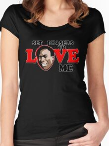 Set Phasers to Love Women's Fitted Scoop T-Shirt