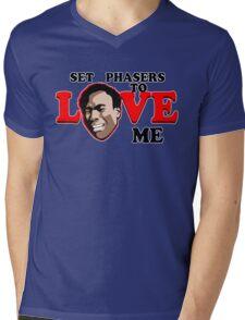 Set Phasers to Love Mens V-Neck T-Shirt