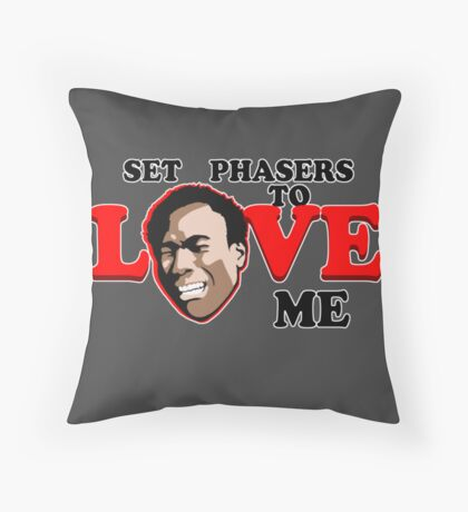 Set Phasers to Love Throw Pillow