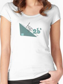 Hyp 2b(squared) - green Women's Fitted Scoop T-Shirt