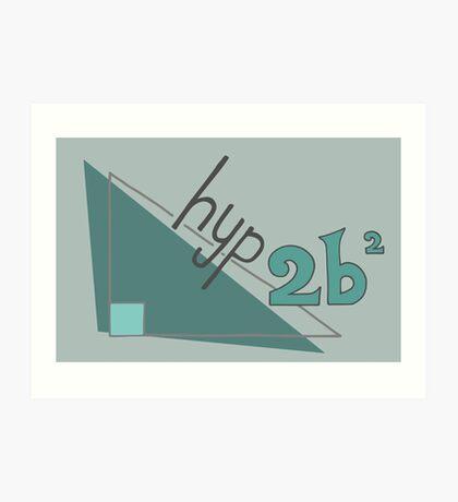 Hyp 2b(squared) - green Art Print