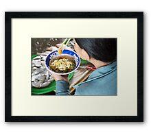food bowl Framed Print