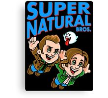 Super Natural Bros Canvas Print