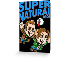 Super Natural Bros Greeting Card