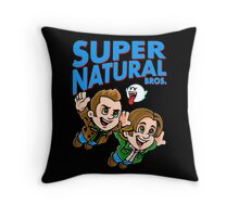 Super Natural Bros Throw Pillow