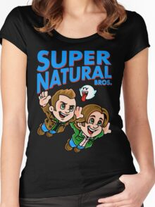 Super Natural Bros Women's Fitted Scoop T-Shirt