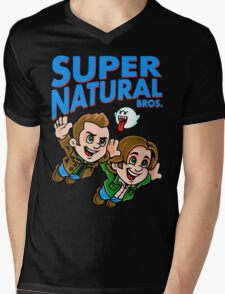 Super Natural Bros Mens V-Neck T-Shirt