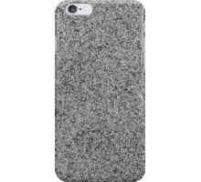 Closeup of grey granite  iPhone Case/Skin