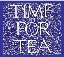 Time For Tea (Royal Blue) Photographic Print