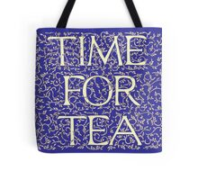 Time For Tea (Royal Blue) Tote Bag