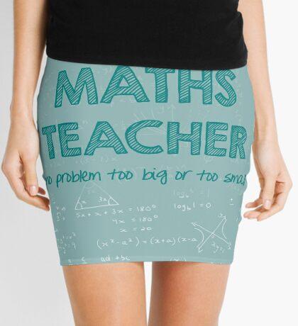 Maths Teacher (no problem too big or too small) - green Mini Skirt