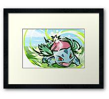 Ivysaur | Solar Beam Framed Print