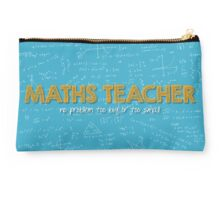 Maths Teacher (no problem too big or too small) - blue Studio Pouch