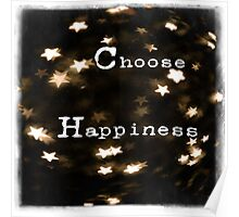Typography - Choose Happiness Poster