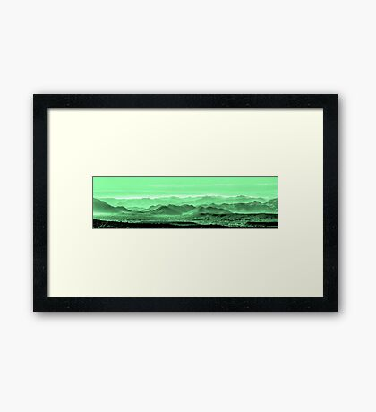 Verdant Hills Of The Tonto Framed Print