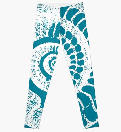 Spiral Shell with Math (blue) Leggings