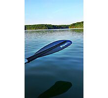 Oar above water Photographic Print