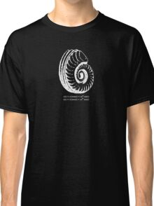 Spiral Shell with Math (white) Classic T-Shirt
