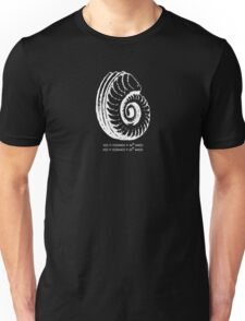 Spiral Shell with Math (white) T-Shirt