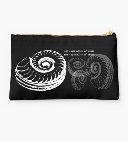 Spiral Shell with Math (white) Studio Pouch
