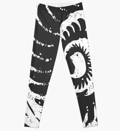 Spiral Shell with Math (white) Leggings