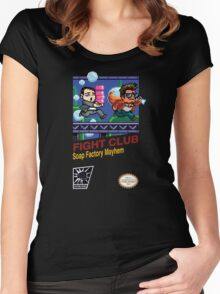 Fight Club 8 bit Style Women's Fitted Scoop T-Shirt