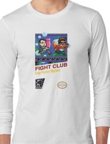 Fight Club 8 bit Style Long Sleeve T-Shirt