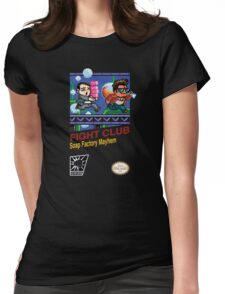 Fight Club 8 bit Style Womens Fitted T-Shirt